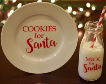 For Santa plate and milk bottle