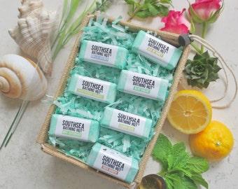 Handmade Soap Gift Box - Mini soap set, Mini soap sampler, Jute Box