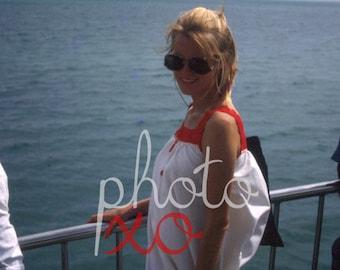 Pretty woman on a ship, 1980s