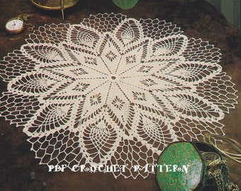 Instant Download, Vintage Crochet Radiant Star Doily, Crochet PDF Pattern