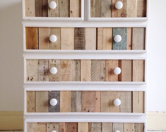 Handmade Modern Rustic Chest of Drawers - Vertical