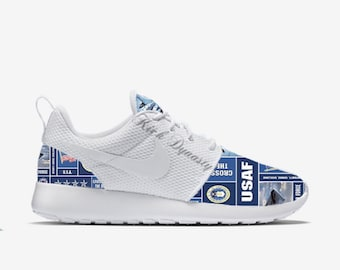 United States Air Force Armed Forces Military Nike Roshe Run Custom Sneakers