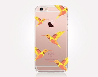 Hummingbirds Clear Phone Case - Clear Case - For iPhone 8, 8 Plus, X, iPhone 7 Plus, 7, SE, 5, 6S Plus, 6S,6 Plus, Samsung S8,S8 Plus,