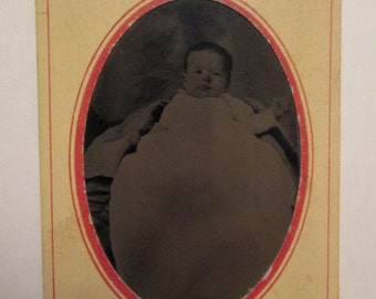 Antique Tintype Photograph of Baby