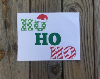 HO HO HO Iron-On Vinyl Decal~Glitter Reindeer Vinyl Decal~ Iron-On Vinyl Decal~diy KidS Shirt