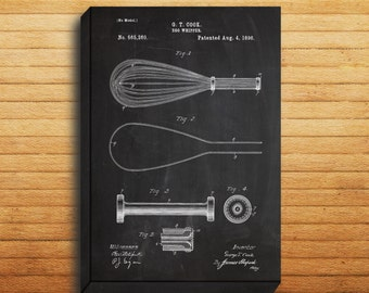 CANVAS - Egg Whipper Patent, Egg Whisk Poster, Whisk Blueprint,  Whisk Print, Whisk Art, Whisk Decor