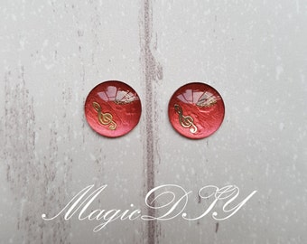 Hand Made Blythe Eye Chips Red Copper (1 pair)