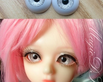 Hand Made BJD Doll Eyes Silver Sand Acrylic Half Ball 8mm 10mm 12mm 14mm 16mm 18mm 20mm 22mm 24mm 26mm