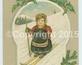 vintage postcards/christmas clipart