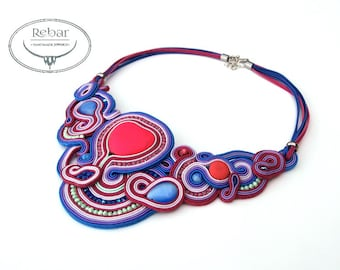 "Soutache Necklace ""Felicja"""