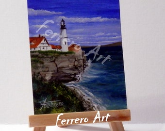 ACEO Original OIL PAINTING miniature. Original Aceo. With certificate of authenticity.
