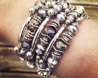 Memory wire wrap bracelet silver memory wire bracelet wrap bracelet silver wrap bracelet coil bracelet silver coil bracelet