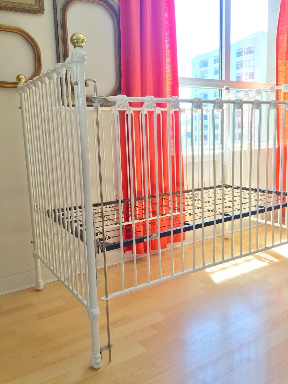 RESERVED for KARI Vintage Iron Crib Corsican Crib