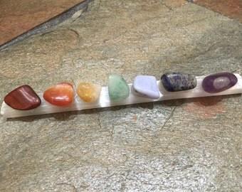 Selenite 7 Chakra Healing Wand