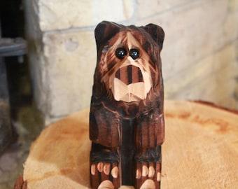 Chainsaw Carved Bear Cub