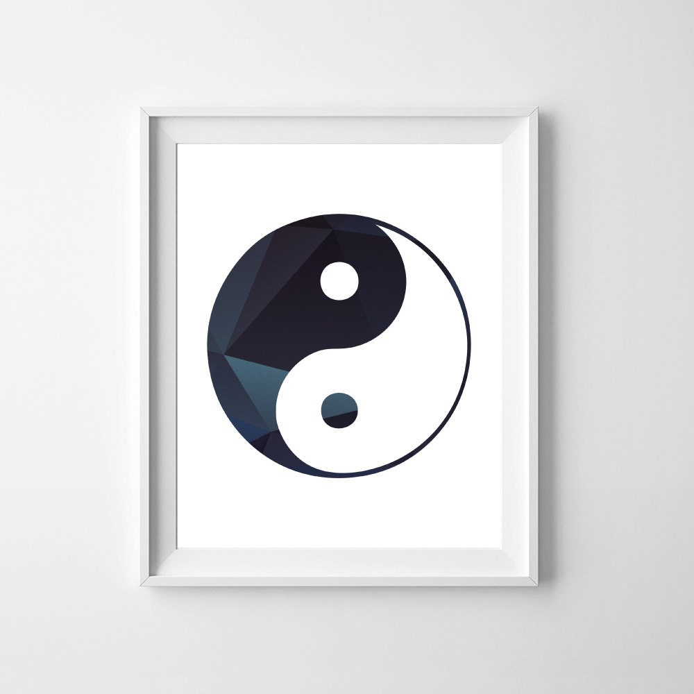 Yin yang wall art yin yang wall d cor chinese symbol 8 x for Decoration murale yin yang