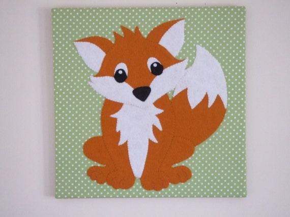 Fox Wall Art fox wall art fox art fox nursery decor fox nursery canvas