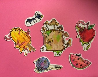 RUINED FOOD handmade stickers