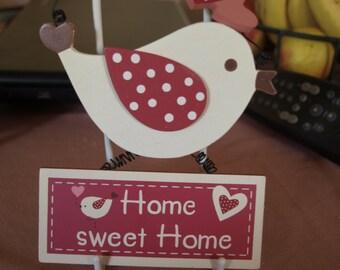 Home Sweet Home Bird Plaque