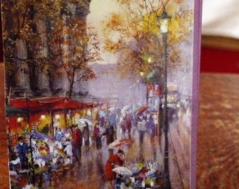 Street Scene in the Rain Card