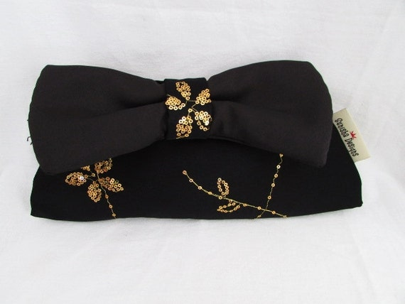 Sparkly Black Bowtie Clutch