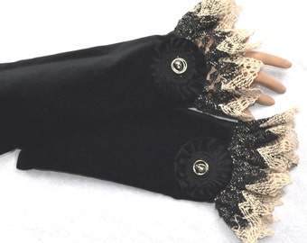 fingerless gloves, arm warmers, helloween gloves,black velvet gloves,skull,Steampunk gloves, fingerless mittens