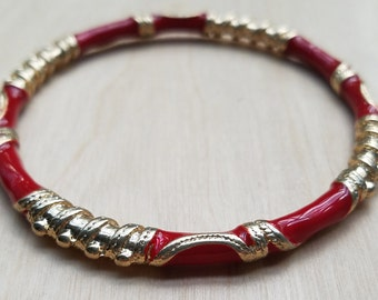 Red & Gold Scroll Bangle