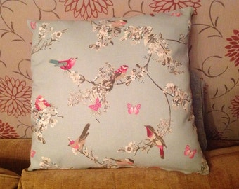 Vintage bird cushion