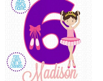Personalized Ballerina Any Age Any Name Iron On - Emailed - You Print