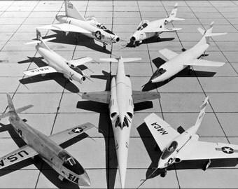 24x36 Poster . 1St Gen X-Planes X-3 X-1A D-558-1 Xf-92A X-5 D-558-2 X-4 1953