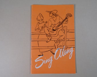1950s Sing Along Book Concordia Publishing St. Louis MO