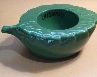 Life Savers Wint O Green Leaf Candy Dish