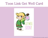 Legend of Zelda Get Well Card - Fairy in a Bottle Printable Card, Greeting Cards, Cute Card, For Him for Her - Instant Download