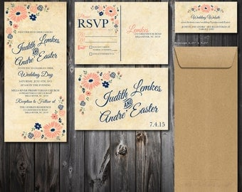Shabby Chic Wedding Invitation Suite (75)