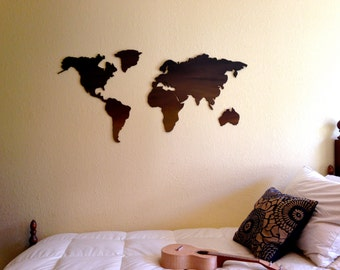 World Map {Continents} Wall Hanging