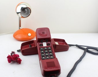 Vintage German Post Office phone dials telephone Red Retro 80s style decoration WORKS PERFECTLY
