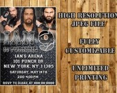 ROMAN REIGNS Printable Birthday Party Invitation / WWE Birthday Party Invitation