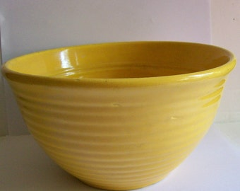 Vintage Bauer Pottery Ring Ware Yellow Mixing Bowl #18 Ringware Kitchen Collectibles
