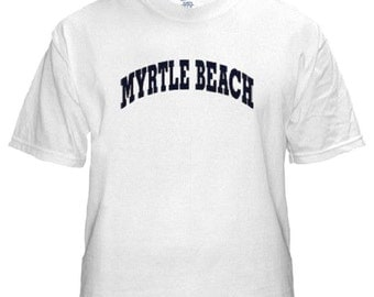 Myrtle Beach White Shirts All Sizes (633)