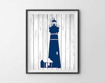 White lighthouse decor
