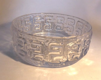 Riihimaki 'Taalari' clear glass fruit bowl by Tamara Aladin - original from the 1960s/70s