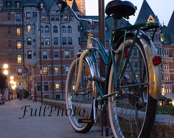 The Old Bicycle- Old Quebec City - 4x6  -8x10  -8x12  -11x14  -12x18  -16x20