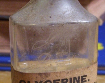 Antique Medicine Bottle With Label & Contents Embossed Flemington NJ Frank Green