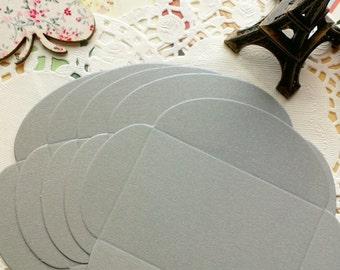 Mini Size DIY Textured Envelopes /Silver Grey Shimmer/5 PCS/6x9cm