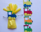 Snack Bag Decor, goodie bag, train decor, train party, train birthday, snack bag topper, snack bag tie, birthday bag tie