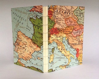 Europe Travel Journal with pockets guestbook adventure book