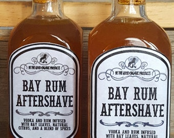 All Natural Aftershave for Men -- Bay Rum Aftershave