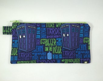 Zipper Pouch - Doctor Who TARDIS Bigger on the Inside