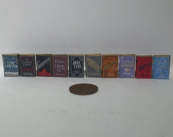 1:12th Scale 18th Century Novels collection of 10