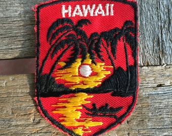 Hawaii Vintage Souvenir Travel Patch from Voyager
